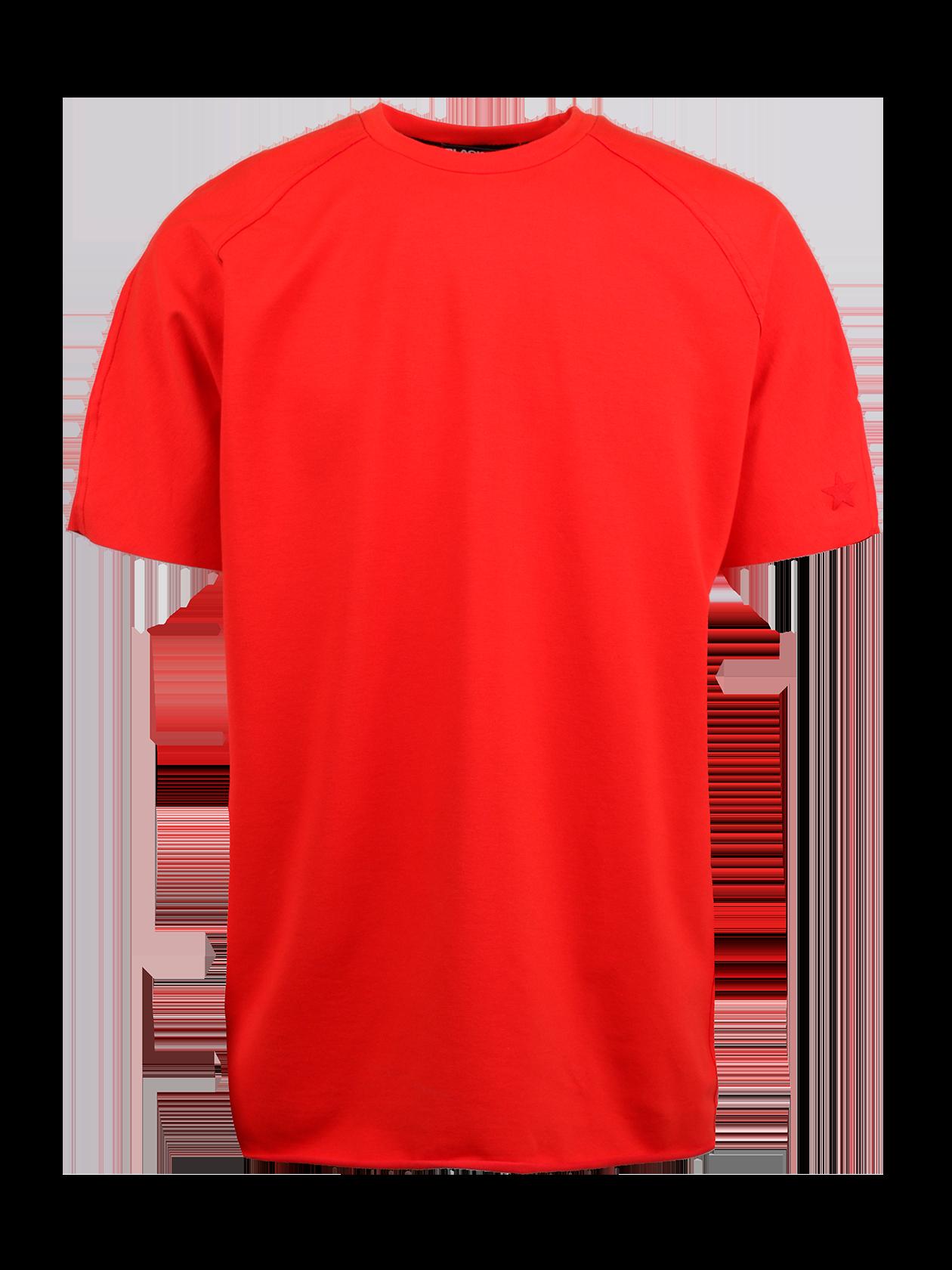 Футболка мужская RED STARФутболка мужская Red Star – яркое дополнение стиля на каждый день. Модель представлена в эффектной красной расцветке. Силуэт прямой, свободный, удлиненный. Небольшой рукав-реглан, переходящий на спинке в отдельную деталь. На краю левого рукава стильный принт в виде красной звезды. Горловина узкой округлой формы с эластичным кантом и фирменной нашивкой Black Star Wear, оформленной по внутренней стороне спинки. Натуральный высококачественный хлопок обеспечивает практичность и комфортность вещи.<br><br>Размер: XL<br>Цвет: Красный<br>Пол: Мужской