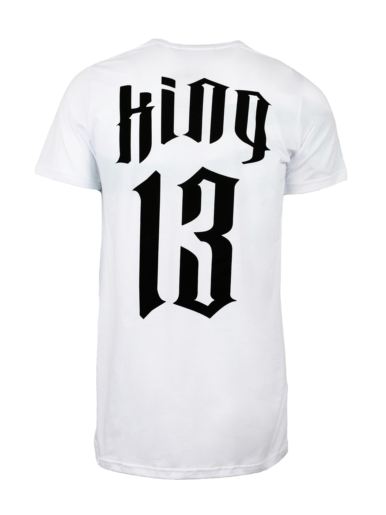 Футболка мужская KING 13Футболка мужская King 13 – практичная и стильная вещь на каждый день. Модель изготовлена из натурального хлопкового полотна, отвечающего за комфорт и воздухообмен во время носки. Базовая белая расцветка подходит к любой другой одежде и обуви. На спине крупная надпись черными буквами «King 13», на груди небольшой принт со словом «King». Прямой полусвободный крой, короткий рукав, округлая горловина с лейблом Black Star Wear внутри. Футболка станет идеальным вариантом для спорта и отдыха.<br><br>Размер: M<br>Цвет: Белый<br>Пол: Мужской