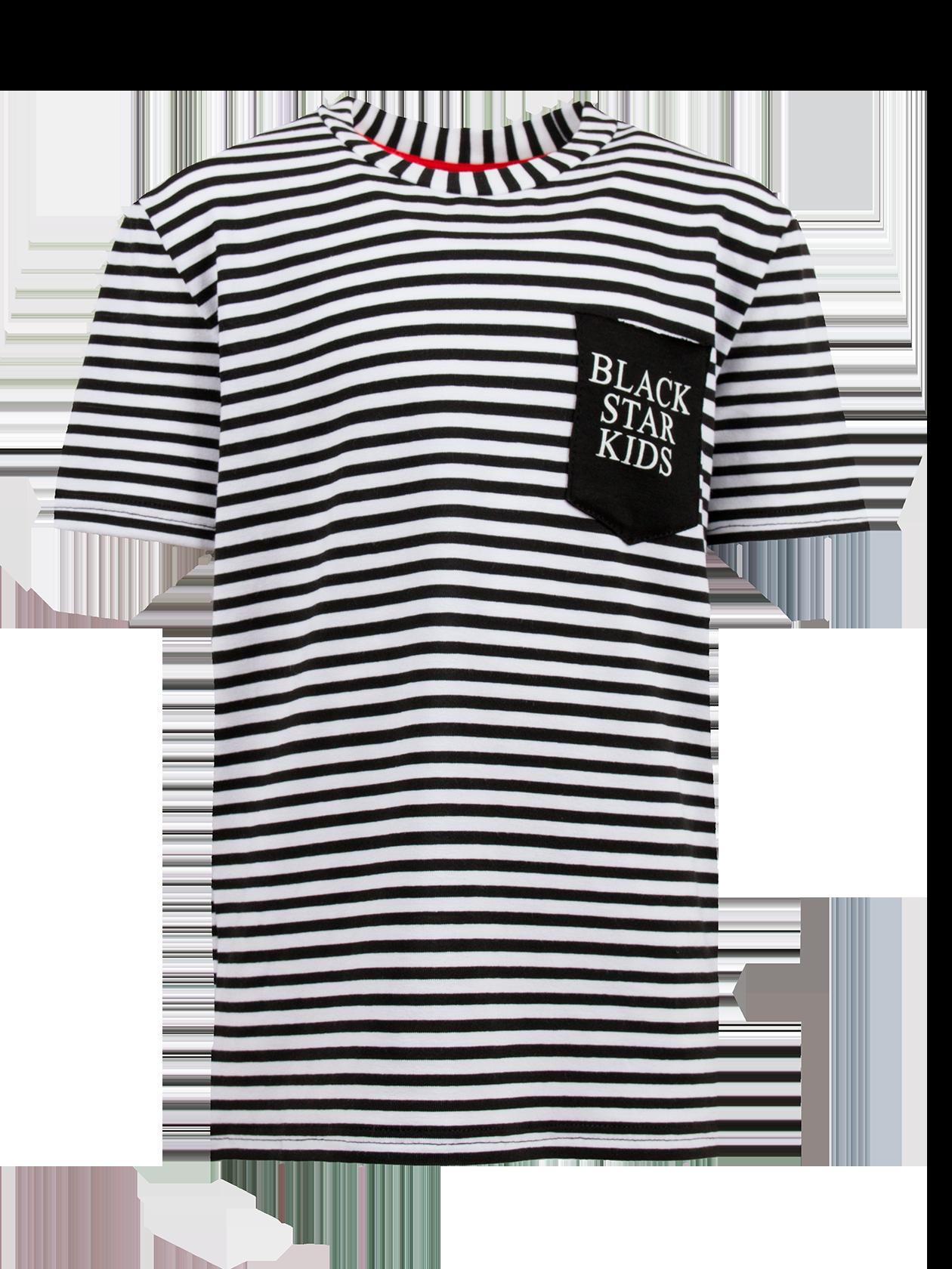 Футболка детская BLACK STAR KIDSСтильная футболка детская Black Star Kids идеально впишется в гардероб маленьких модников. Удлиненная модель прямого свободного силуэта с широким рукавом длиной почти до локтя. Округлая горловина с красным жаккардовым лейблом внутри оформлена широко окантовкой из основного материала. Популярная расцветка в черно-белую полоску придаст образу выразительности. На груди накладной черный карман с надписью Black Star Kids, на спине крупная цифра 13. Футболка детская сшита из натурального дышащего хлопка, обеспечивающего комфорт каждого движения.<br><br>Размер: 7 years<br>Цвет: Синий/Белый<br>Пол: Унисекс
