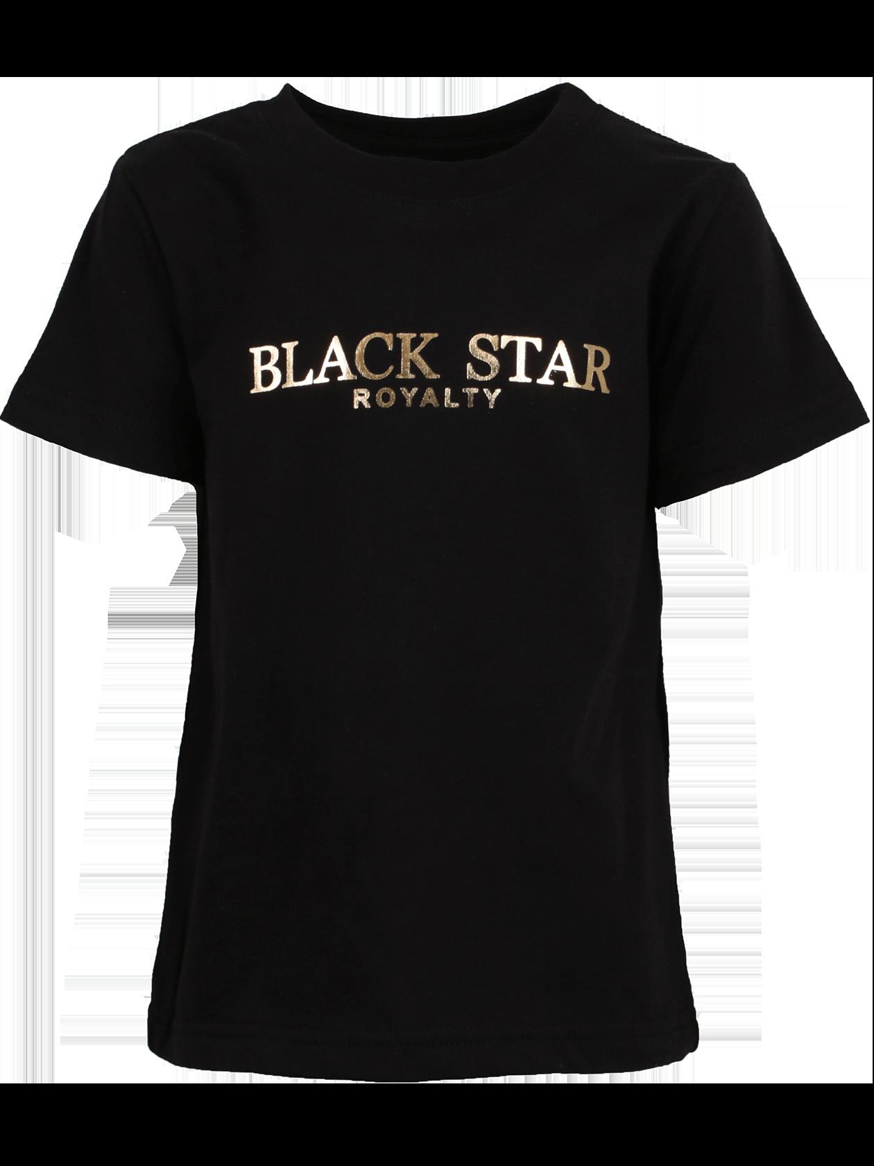 Футболка детская KIDS ROYALTY 13Стильная и практичная футболка детская Kids Royalty 13 – самая подходящая вещь на каждый день. Базовая черная расцветка, высококачественный хлопковый материал. Модель традиционного прямого кроя, силуэт свободный. Небольшой рукав, оптимальная глубина горловины. Внутри имеется жаккардовая нашивка Black Star Wear. Примечательная деталь – крупный принт с цифрой 13 на спине и надпись золотыми буквами Black Star Royalty на груди.<br><br>Размер: 7-8 years<br>Цвет: Черный<br>Пол: Унисекс