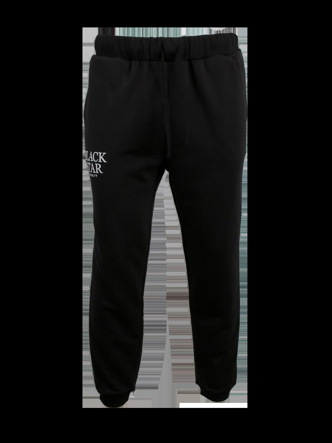 Брюки мужские BLACK STAR ROYALTYПрактичные брюки мужские Black Star Royalty из коллекции BSW – идеальное решение для создания стиля на каждый день. Модель удобного кроя, прямого силуэта с зауженным низом. Голенище оформлено широкой брендированной резинкой. На поясе завязки. Базовая черная расцветка, лаконичный дизайн. Натуральный хлопок премиального качества обеспечивает максимальный комфорт при движении. Декоративный элемент – надпись Black Star Royalty на правой штанине.<br><br>Размер: XS<br>Цвет: Черный<br>Пол: Мужской
