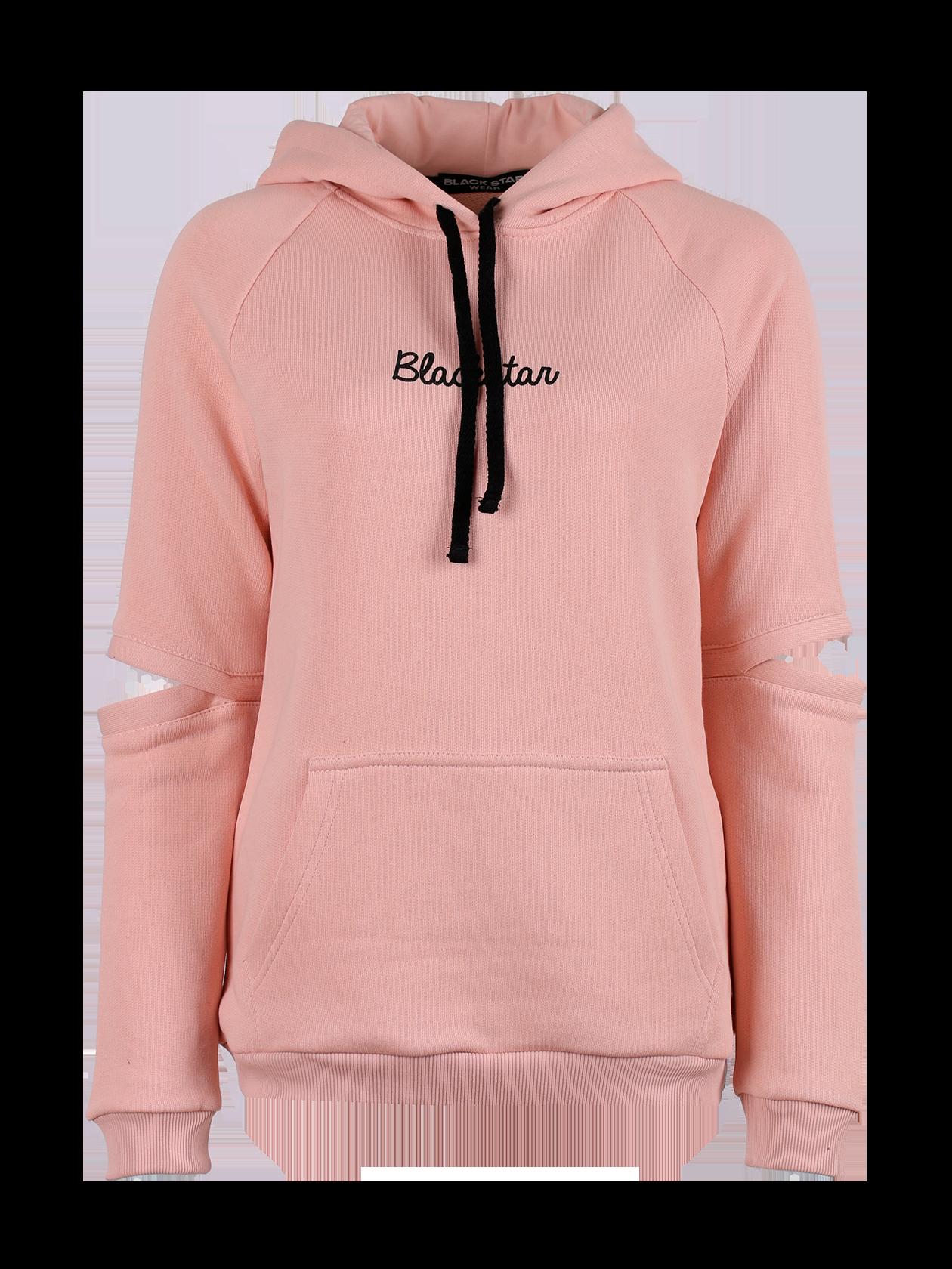 Teens hoodie HOLE BLACK STAR<br><br>size: 12-14 years<br>color: Pink<br>gender: unisex