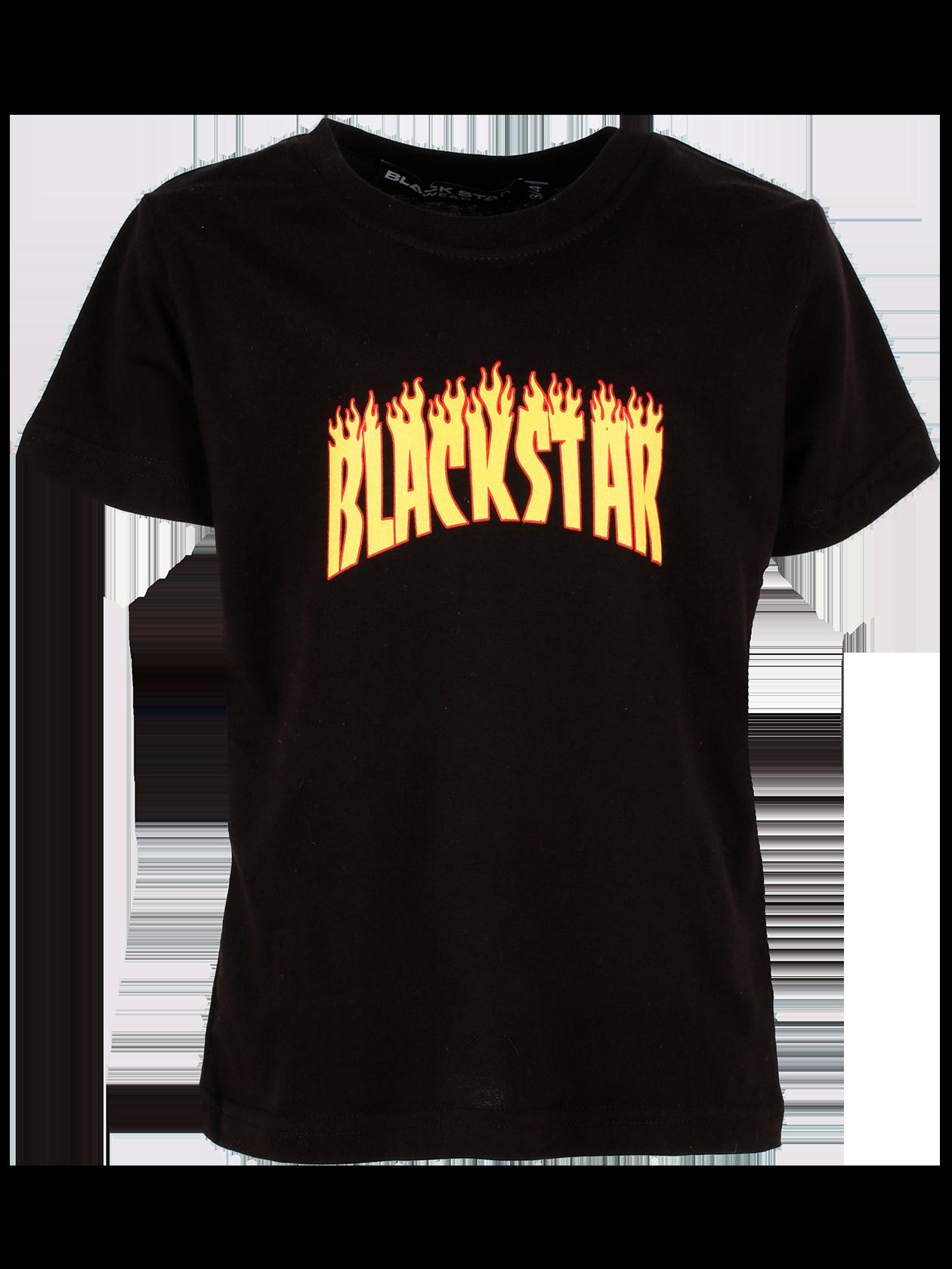 Teens t-shirt FIRETEENSФутболка подростковая Fireteens – обязательный атрибут любого гардероба. Изделие классического прямого кроя со свободным коротким рукавом. Спереди оформлен принт в виде огненной надписи Black Star. Черный цвет комбинируется с любой одеждой и обувью. Модель сшита из высококачественного хлопка, выдерживающего частые стирки. Внутри на горловине жаккардовый лейбл Black Star Wear.<br><br>size: 12-14 years<br>color: Black<br>gender: unisex