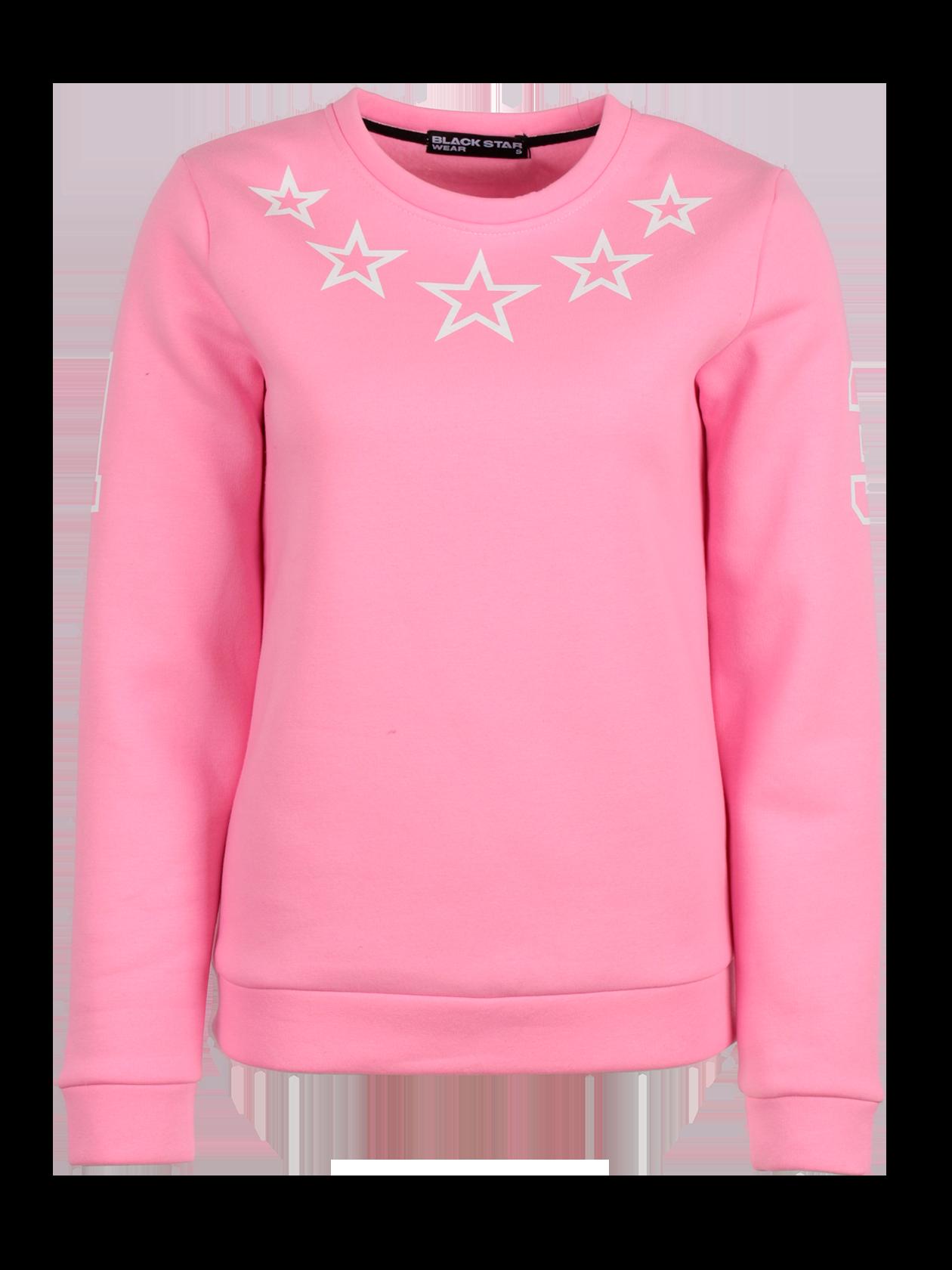 Толстовка женская STARSТолстовка женская из коллекции Black Star Wear. Прямой крой, округлая горловина, манжеты и нижний край не эластичные. Принт с изображением звёзд на груди, цифра 1 на правом рукаве и 3 на левом. Материал изделия: бленд натурального хлопка. Модель доступна в коралловом, белом, зелёном и сером цветах.<br><br>Размер: L<br>Цвет: Коралловый<br>Пол: Женский