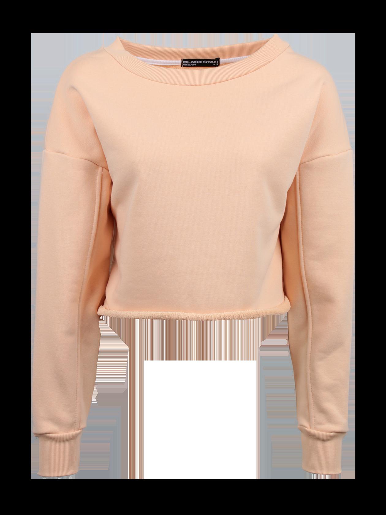 Худи женская PEACHМодная худи женская Peach из коллекции одежды Black Star Wear придаст выразительности каждодневному образу. Модель свободного укороченного кроя со спущенной линией плеча и двухшовным рукавом. Манжеты выполнены из гофрированного материала. Горловина выполнена в форме широкой лодочки, край оформлен эластичным трикотажем, внутри жаккардовый логотип Black Star Wear. Худи представлена в бледно розовом цвете.<br><br>Размер: L<br>Цвет: Бежевый<br>Пол: Женский