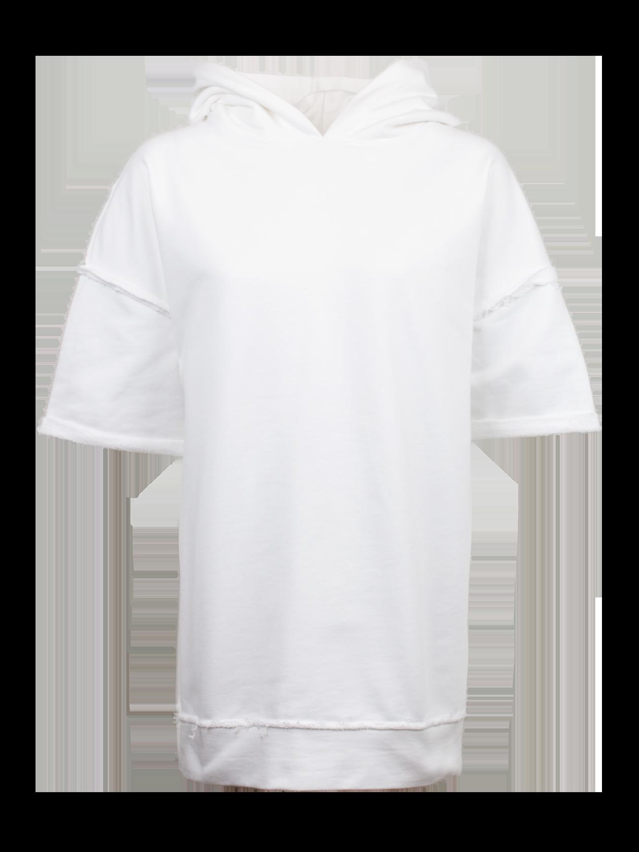 Худи женская OUTWARDSОригинальная худи женская Outwards из коллекции Black Star Wear поможет в создании стильного лука на каждый день. Модель нестандартного удлиненного кроя со спущенной линией плеча, переходящей в небольшой широкий рукав. Изделие дополнено капюшоном. По низу оформлена широкая вставка из основного материала. Худи выполнена из 100% хлопка премиального качества, представлена в базовой белой расцветке. Декоративные элементы – швы «наизнанку» на рукаве и в нижней части вещи.<br><br>Размер: XS<br>Цвет: Белый<br>Пол: Женский