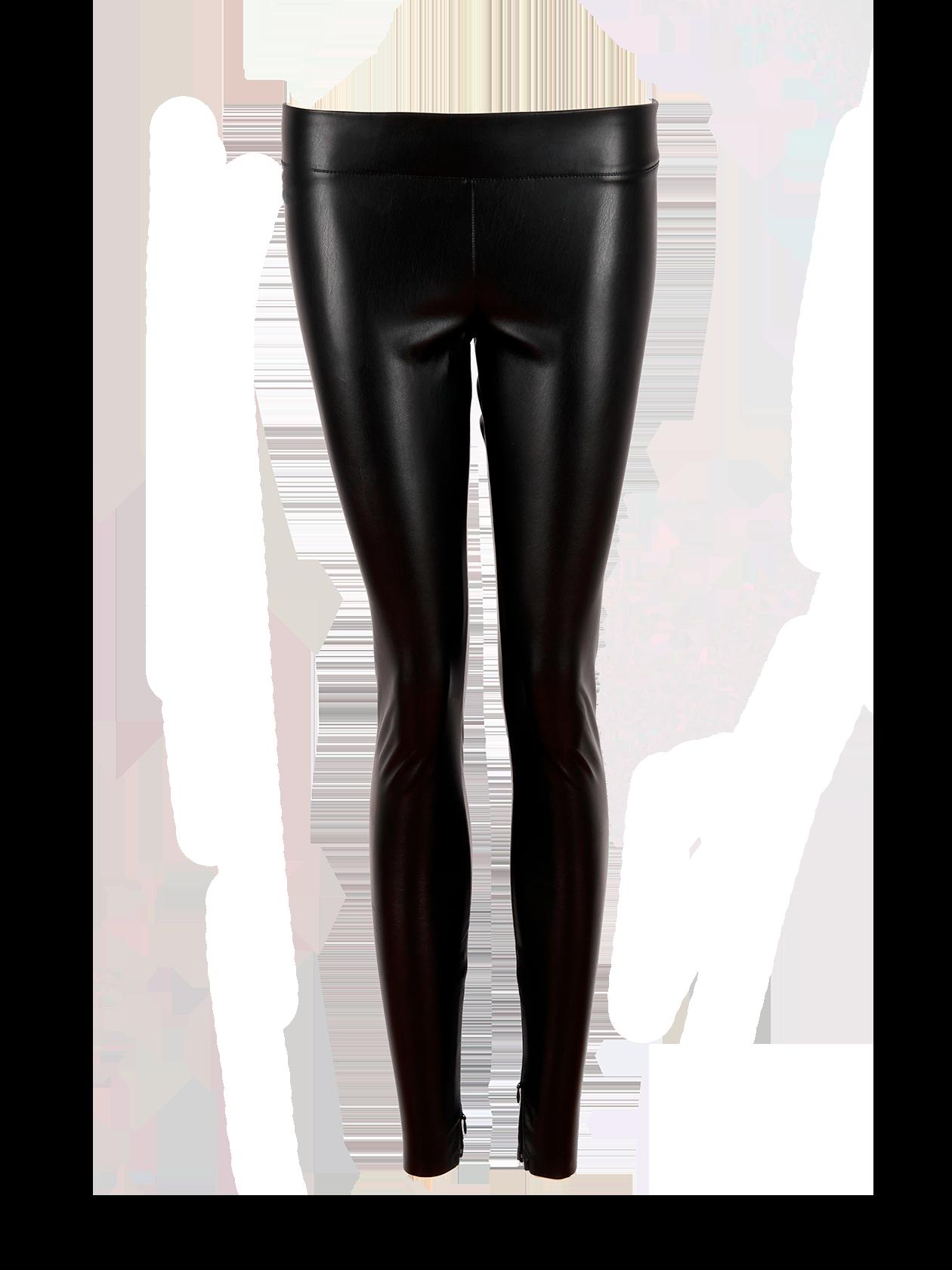 Womens leggings PUЛеггинсы женские PU из модной коллекции Black Star Wear – незаменимая вещь в гардеробе современной девушки. Модель выполнена из качественной эко-кожи. Лаконичный дизайн, прямой облегающий силуэт. Внизу по бокам декоративные молнии. Пришивной пояс из основного материала хорошо фиксирует изделие на фигуре. Комбинируется с различной по стилю одеждой и обувью.<br><br>size: XS<br>color: Black<br>gender: female