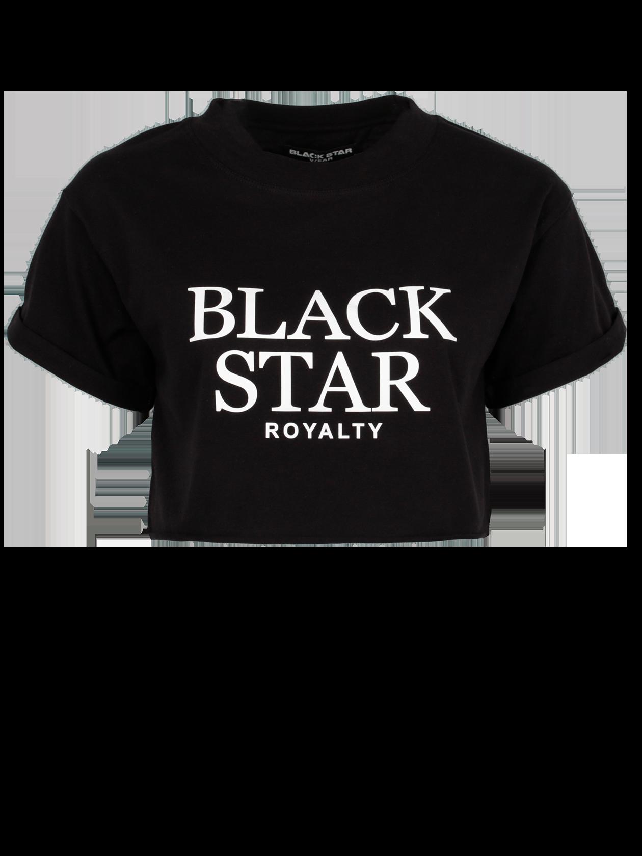 Футболка женская FRONT BLACKСтильная женская футболка Front Black – отличное решение для активных девушек. Модель укороченного кроя, свободного силуэта представлена в черном цвете. На груди контрастная надпись Black Star Royalty. Изделие обладает слегка спущенным плечом, переходящим в короткий широкий рукав. Узкая горловина с эластичной окантовкой и жаккардовым лейблом Black Star Wear на внутренней стороне. Футболка может комбинироваться с любой одеждой и обувью спортивного и повседневного стиля.<br><br>Размер: L<br>Цвет: Черный<br>Пол: Женский