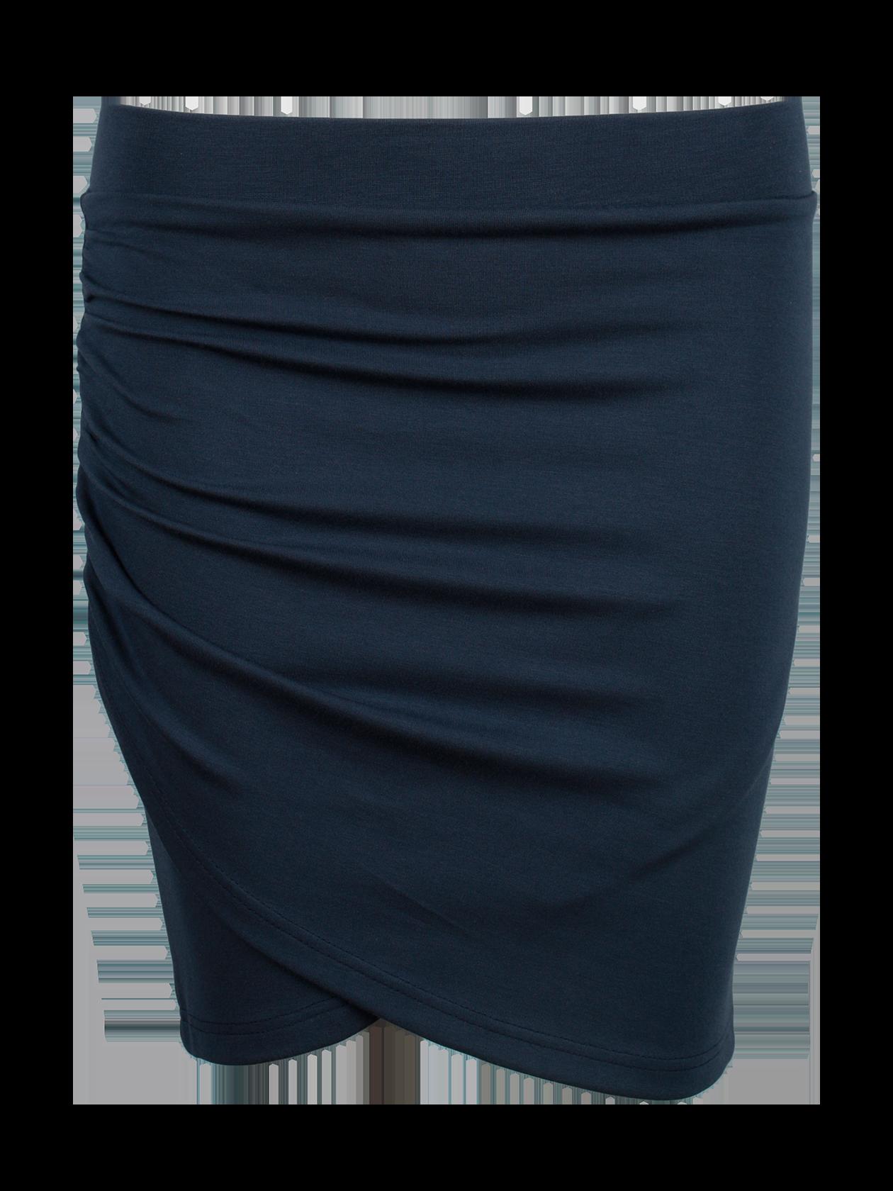 Юбка женская ROYALTY DRAPEСтильная юбка женская Royalty Drape из коллекции Black Star Wear – обязательный атрибут повседневного гардероба. Модель классического дизайна с оригинальной драпировкой по боковой правой линии и двухслойным симметричным передом. Силуэт прямой, облегающий, длина – чуть выше колена. В качестве пояса выступает брендированная резинка, идеально фиксирующая изделие по фигуре, не стесняя движения. Юбка выполнена в базовом черном цвете, который отлично комбинируется с различной одеждой и обувью. Подходит для работы, прогулок, встреч с друзьями.<br><br>Размер: M<br>Цвет: Синий<br>Пол: Женский