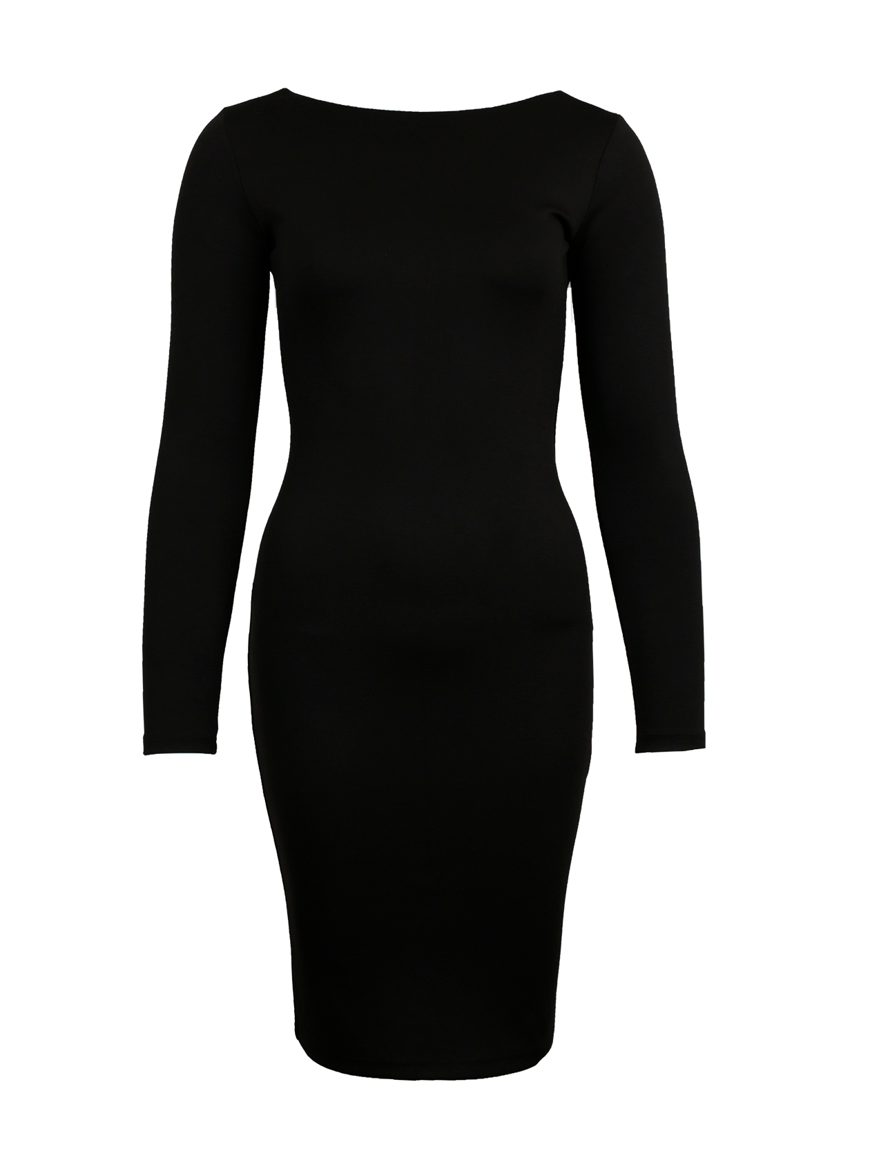 Интернет-магазин МелеонПлатье женское Royalty Gold – стильный и практичный вариант на каждый день. Модель прямого кроя с облегающим силуэтом до колена и длинным рукавом. Лаконичная черная расцветка позволит сочетать эту вещь с другой одеждой и обувью. Интересная фишка платья – стильная застежка-молния по центру спины, доходящая почти до низа. Горловина оформлена в форме лодочки, переходящей на спинке в вырез. Изделие выполнено из высококачественного материала на натуральной основе.&amp;nbsp;<br><br>Размер: XS<br>Цвет: Черный<br>Пол: Женский