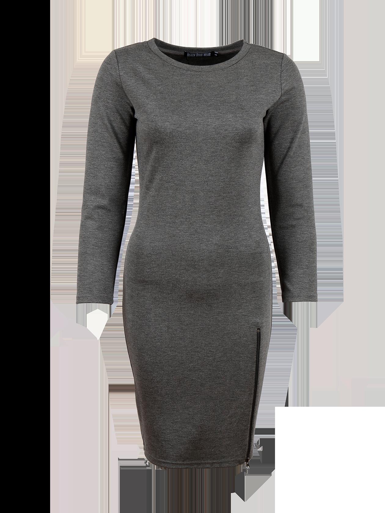 Womens dress SKINNY ZIP 13Платье женское Skinny Zip 13 создано для тех, кто привык себя считать иконой стиля даже при походе в магазин. Если вы находитесь в поисках своего идеального и неповторимого образа, то это именно то, что нужно. Вдохновляющее, пленительное, в меру сексуальное и одновременно комфортное. Пожалуй, лучшего варианта для уверенной в себе и привлекательной девушки не существует. Боковая молния до линии бедер подчеркнет яркость своей хозяйки. Выберите для себя лучшее цветовое решение – черное или серое.<br><br>size: L<br>color: Dark grey<br>gender: female