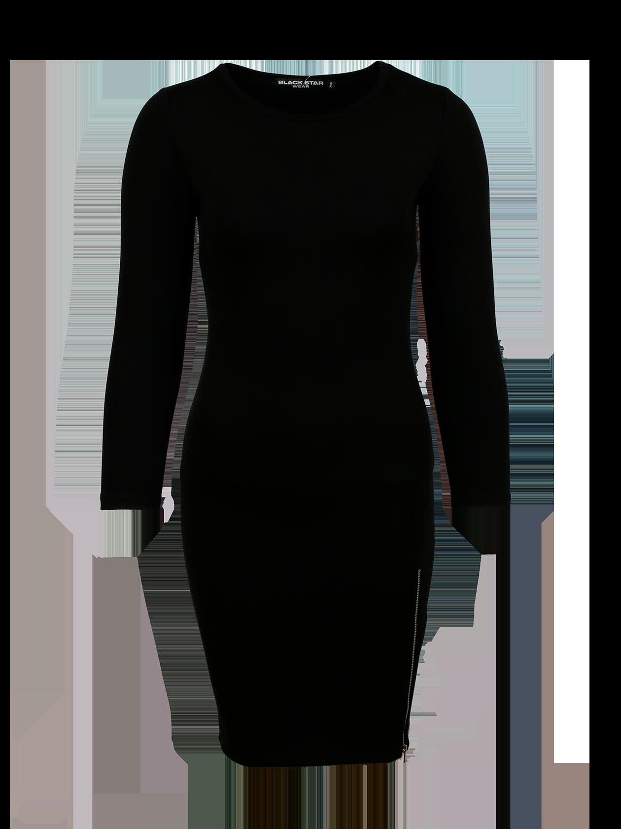 Платье женское SKINNY ZIP 13Платье женское Skinny Zip 13 создано для тех, кто привык себя считать иконой стиля даже при походе в магазин. Если вы находитесь в поисках своего идеального и неповторимого образа, то это именно то, что нужно. Вдохновляющее, пленительное, в меру сексуальное и одновременно комфортное. Пожалуй, лучшего варианта для уверенной в себе и привлекательной девушки не существует. Боковая молния до линии бедер подчеркнет яркость своей хозяйки. Выберите для себя лучшее цветовое решение – черное или серое.<br><br>Размер: S<br>Цвет: Черный<br>Пол: Женский