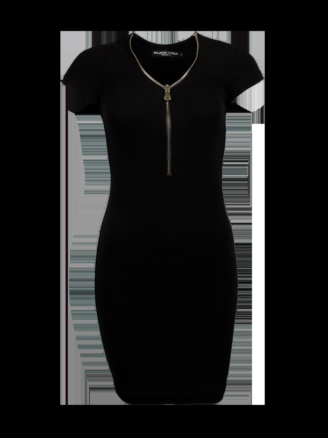 Платье женское ROYALTY GOLD 13Платье женское Royalty Gold 13 – идеальное решение для создания стиля на каждый день. Модель лаконичного дизайна подходит для офиса, прогулок, встреч с друзьями. Облегающий крой, оптимальная длина до колена, небольшой аккуратный рукав. Черная расцветка актуальна в любом сезоне, с ней можно комбинировать любую обувь и аксессуары. Интересной деталью платья является золотая застежка на молнии в области декольте. Внутри по горловине спинке оформлен лейбл Black Star Wear. Изделие создано из бленда премиального хлопкового полотна.<br><br>Размер: M<br>Цвет: Черный<br>Пол: Женский