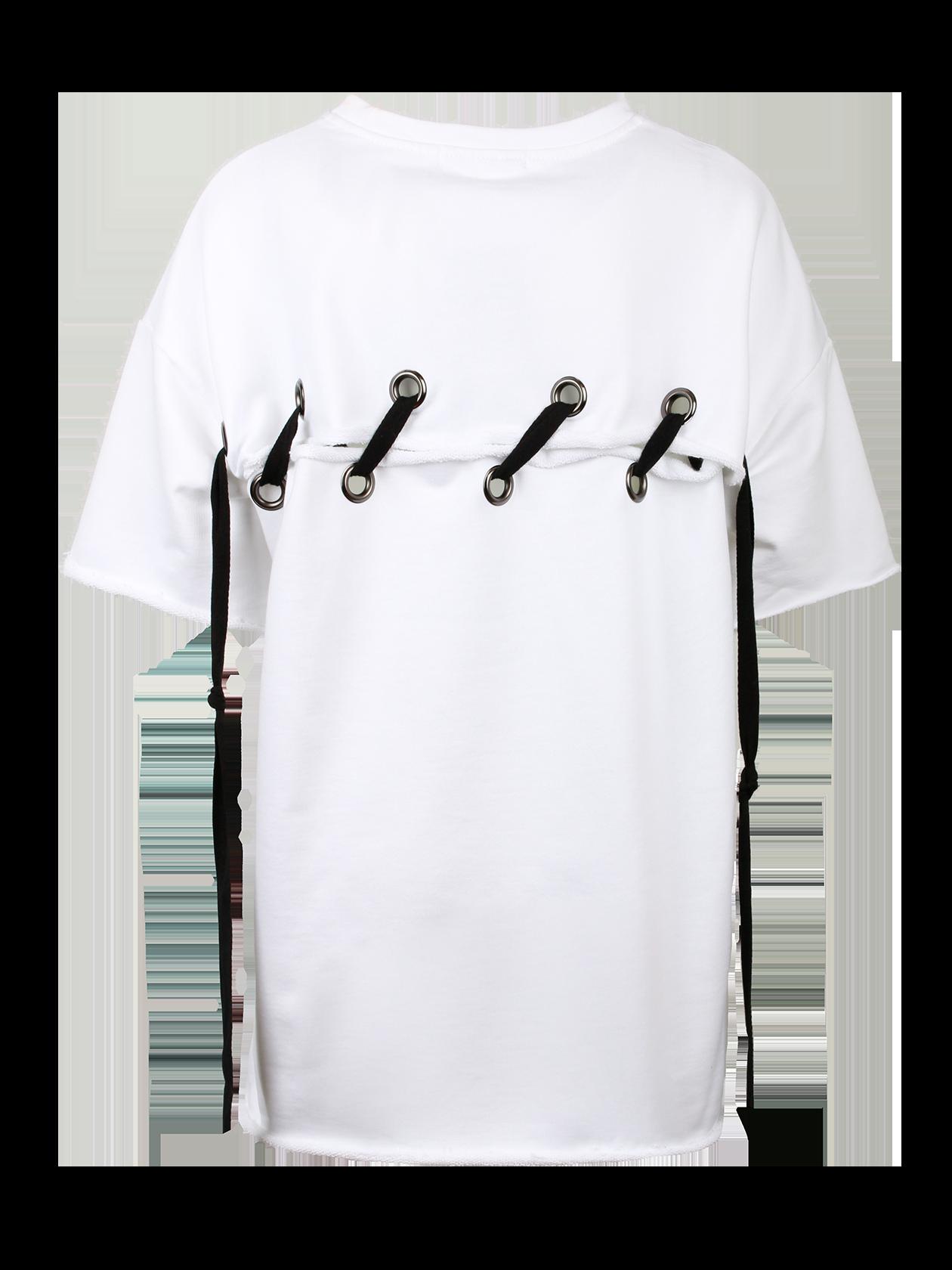 Платье женское HOT SUMMERЭффектное платье женское Hot Summer от бренда Black Star Wear поможет заметно выделиться из толпы. Cпущенная линия плеча переходит в широкий рукав длиной до локтя. Крой изделия прямой с оптимальной свободой прилегания. Горловина среднего размера глубины содержит жаккардовую нашивку Black Star Wear. Необычная фишка вещи – спина, состоящая из двух частей, соединенных между собой крупной черной шнуровкой. Платье изготовлено из премиального хлопка, представлено в бледно-розовой и белой расцветке.<br><br>Размер: L<br>Цвет: Белый<br>Пол: Женский