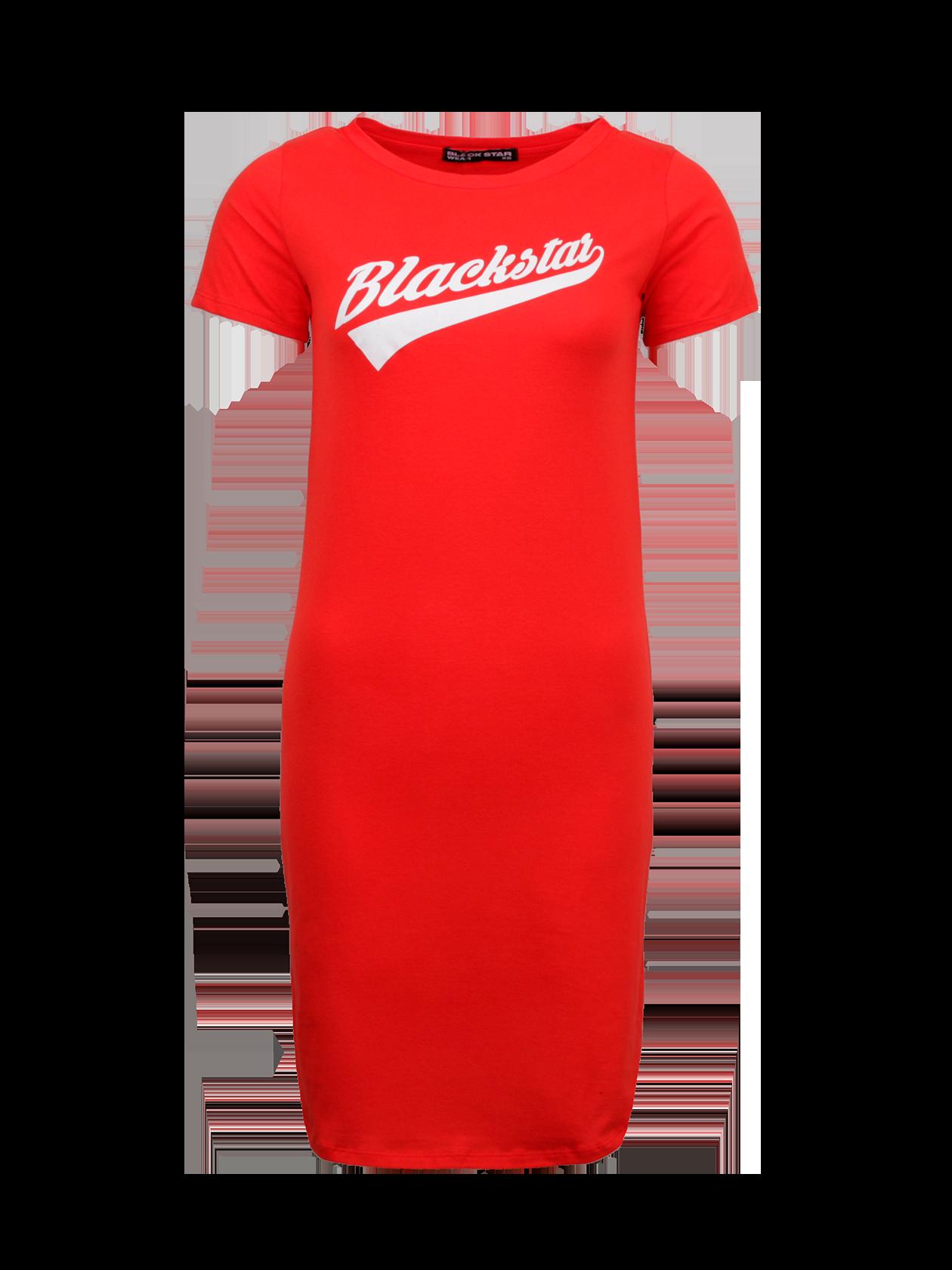 Платье женское ONLY BLACK STARПлатье женское Only Black Star – яркое дополнение повседневного лука. Модель эффектной красной расцветки поможет выделиться из толпы. Прямой полусвободный крой, длина до колена. Горловина выполнена в форме лодочки, дополнена черной нашивкой с логотипом бренда BSW на изнаночной стороне. На груди стильная надпись белыми буквами Black Star. Благодаря натуральному хлопку премиального качества обеспечивается максимальный комфорт каждого движения.<br><br>Размер: M<br>Цвет: Красный<br>Пол: Женский