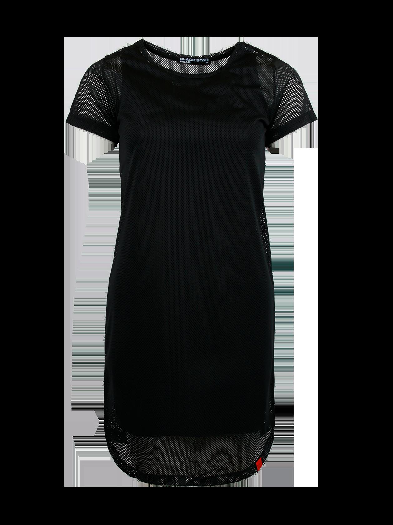 Платье женское MERMAIDПлатье женское Mermaid – оригинальная вещь от популярного бренда Black Star. Модель прямого свободного кроя с округленной формой низа и небольшим рукавом. Неглубокая горловина содержит эмблему с логотипом BSW на внутренней стороне. Изделие выполнено полностью из перфорированного материала высокого качества, представлено в черной расцветке. Внутри имеется подкладка, открывающая рукава и нижнюю часть платья. Идеально подходит для создания стиля на каждый день, комбинируется с любой обувью.<br><br>Размер: M<br>Цвет: Черный<br>Пол: Женский