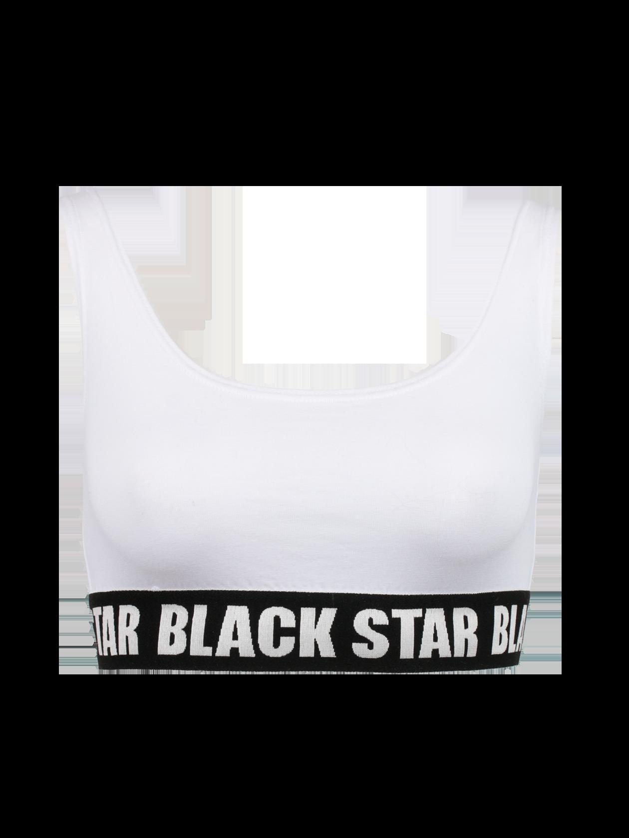 Топ женский ORIGINAL BSТоп женский Original BS – неотъемлемый элемент повседневного гардероба. Модель классической укороченной формы с облегающим силуэтом. Горловина с глубоким вырезом на спине и спереди. Нижний край топа дополнен фиксирующей черной резинкой с белой надписью Black Star. Изделие отличается высокой практичностью, выдерживает многочисленные стирки и не теряет привлекательный вид. Идеальное решение для отдыха, спорта и дома. В наличии четыре цвета – белый, серый, красный и черный.<br><br>Размер: M<br>Цвет: Белый<br>Пол: Женский